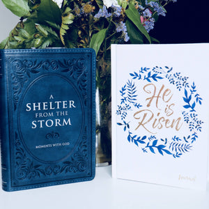 A Shelter From The Storm Devotional w/ He Is Risen Journal