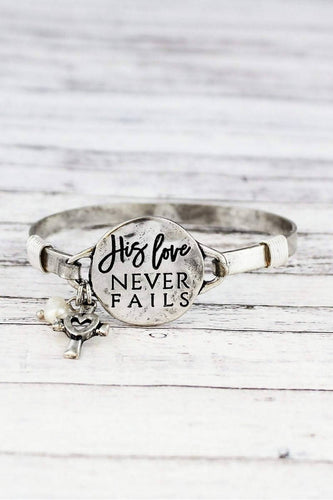 'HIS LOVE NEVER FAILS' BRACELET