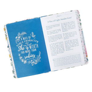 The Pocket Bible Devotional For Women Floral Flexcover Book