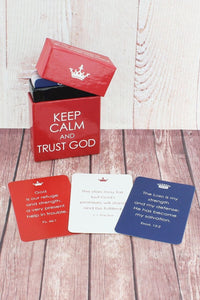 KEEP CALM AND TRUST GOD BOX OF BLESSINGS PROMISE CARDS