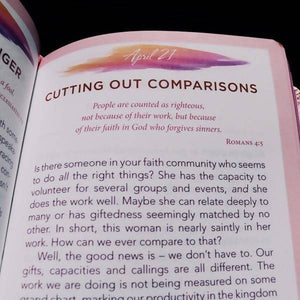 One-Minute Devotions for Young Women - LuxLeather Edition