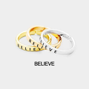 "3 pcs Ring Set ""Believe"""