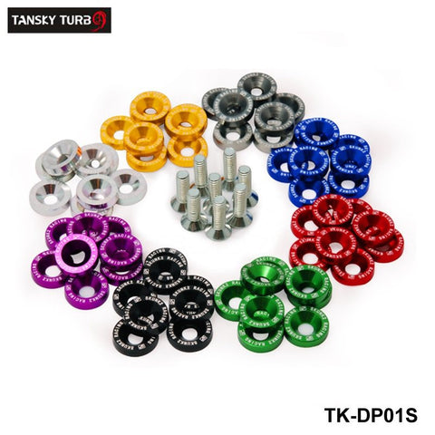 TANSKY -8PCS/LOT JDM Style Fender Washers Bumper Washer Lisence Plate Bolts Kits for CIVIC ACCORD EP-DP01S-SK2