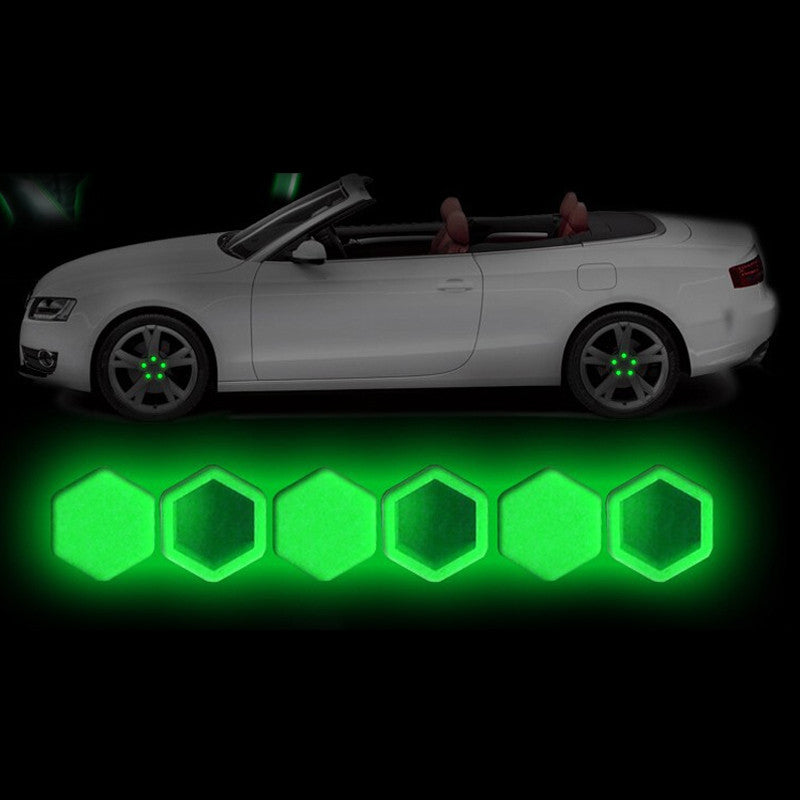 20pcs/set  Luminous Car Silica Bolt Caps Wheel Screw Nuts Covers
