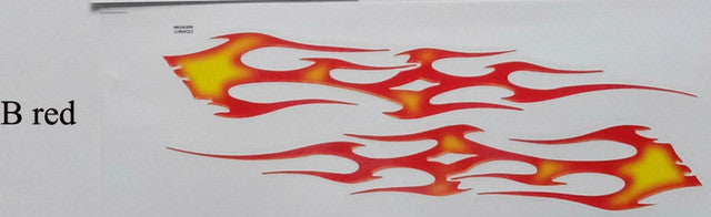 2 sheet,25CM Flame sticker for motorcycle,chopper, dirt bike pit bike,