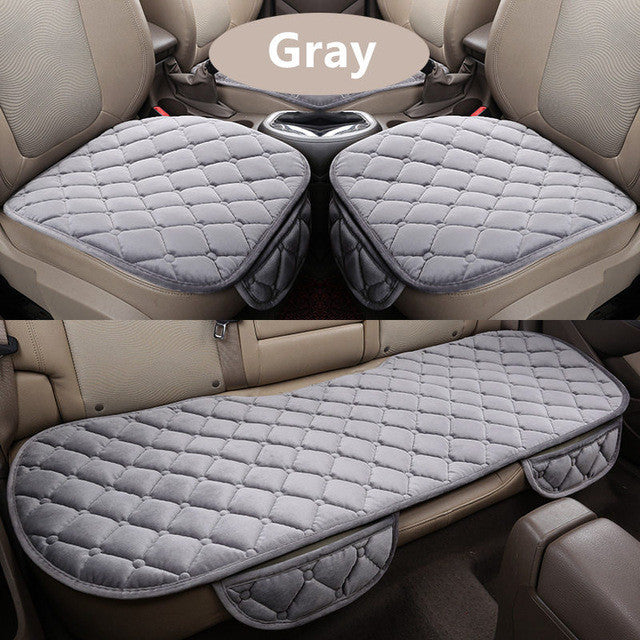 3Pcs/Set Car Supplies Square Style Luxurious Warm Car Seat Cover
