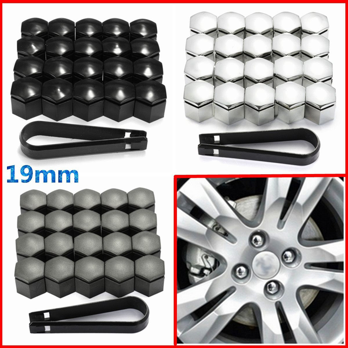 20pcs 19mm Wheel Nut Cover Bolt Cap Protector For Vauxhall Opel Romove