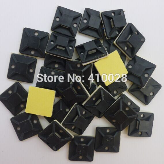 20mm*20mm 100pcs black Zip Tie car Cable Wire Removable Self