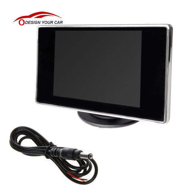 "3.5"" TFT LCD Car Monitor Auto TV Car rear view camera with mirror"