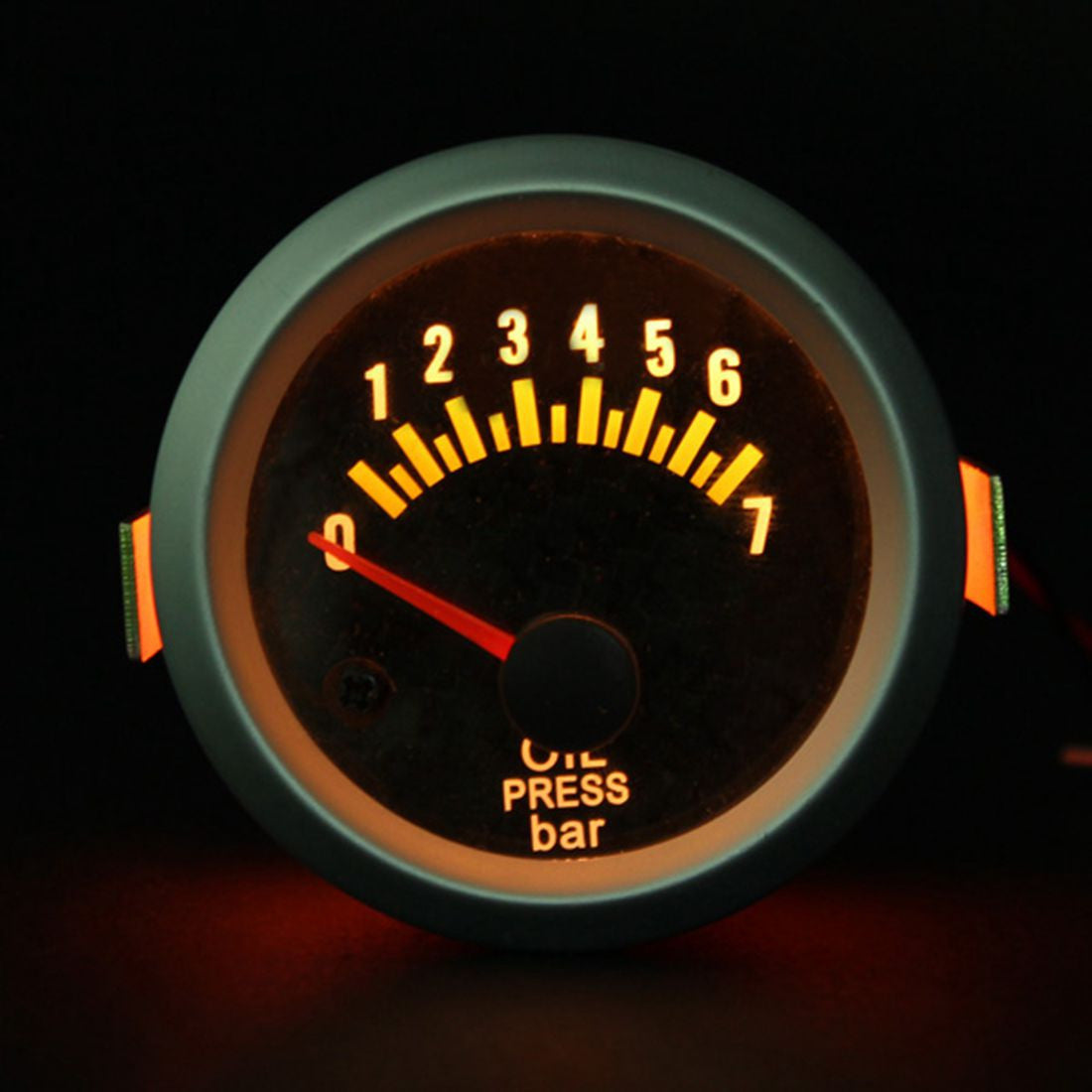 2016 Brand New 2 Inch 52mm Electrical Oil Pressure Gauge Gauges Carbon