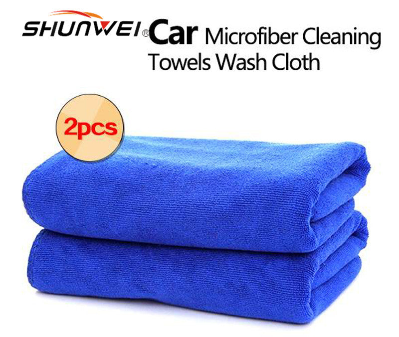 2Pcs Softness Strength Microfiber Towel Car Care Cleaning Wash Clean