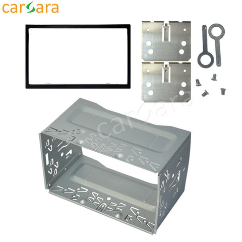 Car 2 Din 178mm*100mm Dashboard Universal Installation Fitting Frame Mounting Kit Set Fascia for 6.2'' 7'' Radio Player
