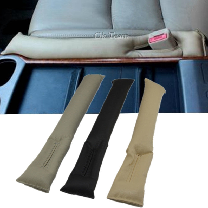 2pcs/lot Practical Car Accessory PU Leather Car Seat Gap Padding