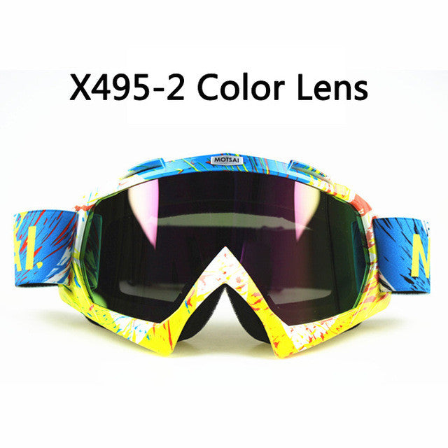 2016 New Motocross Goggles Glasses Oculos Cycling MX Off Road Helmet