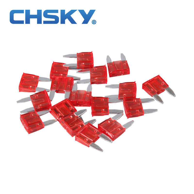 20PCS  with the high quality min auto fuse 10A min car fuse blade