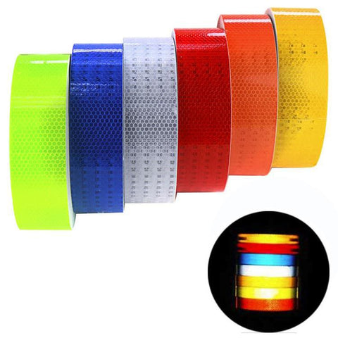 3M Reflective Safety Warning Conspicuity Tape Film Sticker For Vehicles Cars Motorcycles Ships Decoration Universal