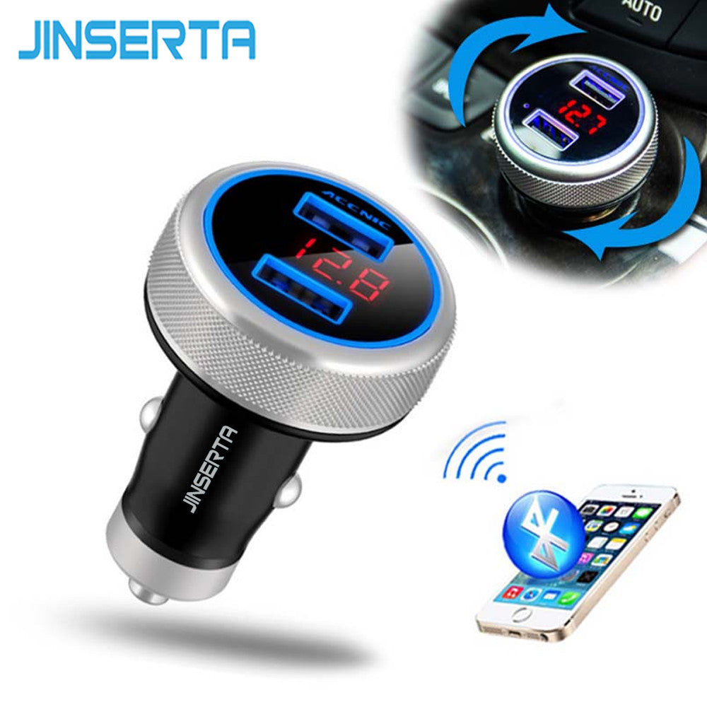 2016 New Bluetooth FM Transmitter Car MP3 Player Voltage Monitor