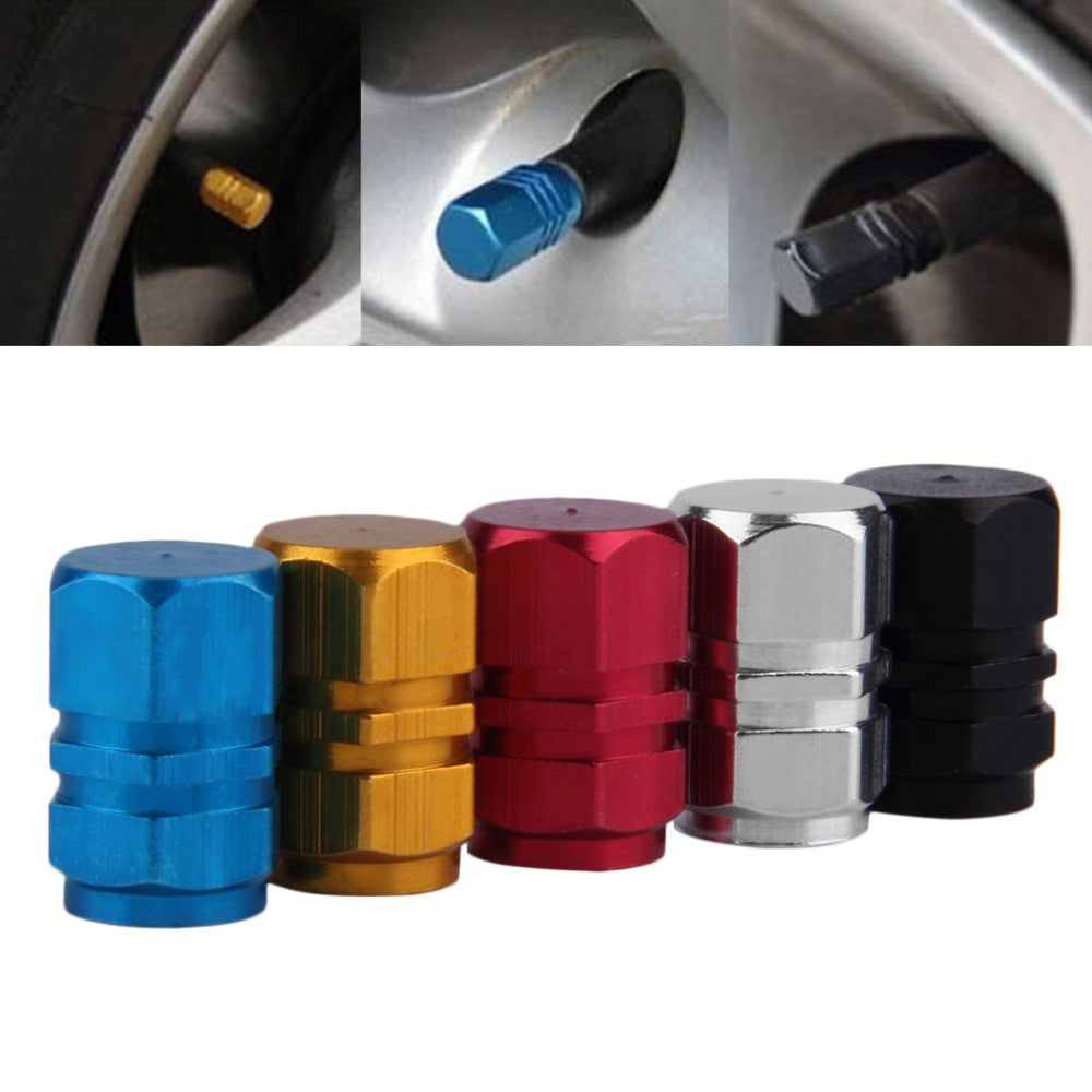 2017 newest 4pcs/pack Theftproof Aluminum Car Wheel Tire Valves Tyre