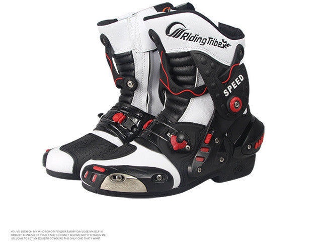 2016 Hot sale Riding Tribe fashion motorcycle boots man speed road
