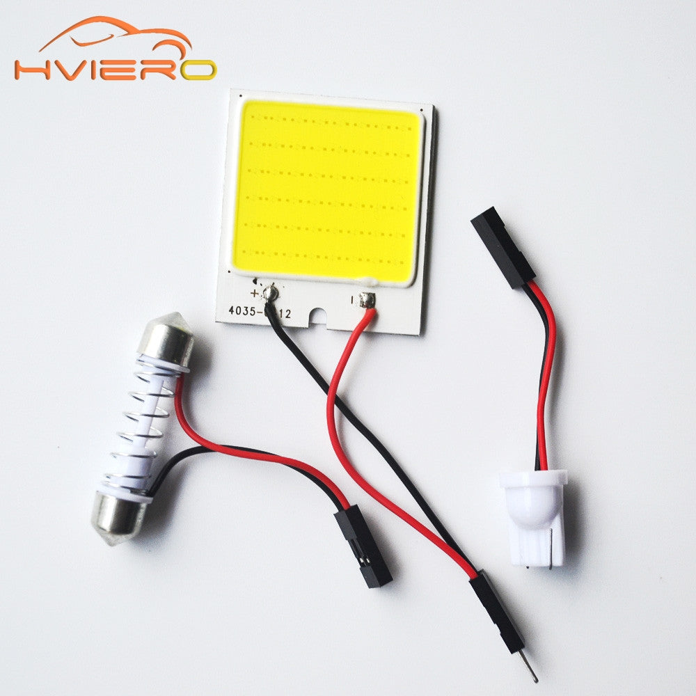 1Pcs C5W cob 48 SMD chip White Reading Lamp led T10 Car Led parking