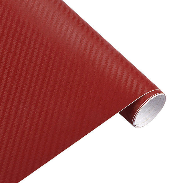 200cm x50cm 3D Carbon Fiber Vinyl Wrap Film Motorcycle Car Vehicle