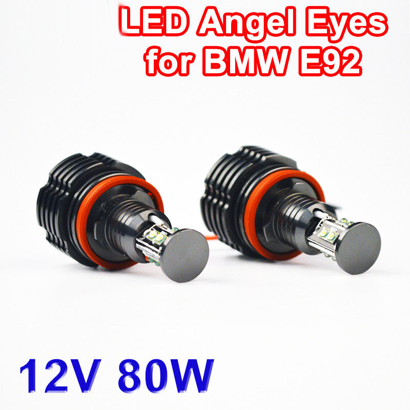 2 Pieces(1 Set) 2*40W 80W H8 Angel Eyes LED Marker CREE LED Chips
