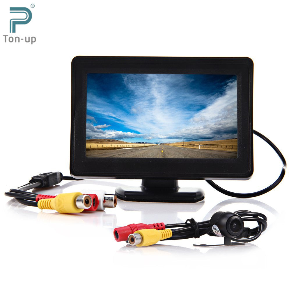 2 in 1 4.3 Inch TFT LCD Car Monitor with Night Vision Rear View