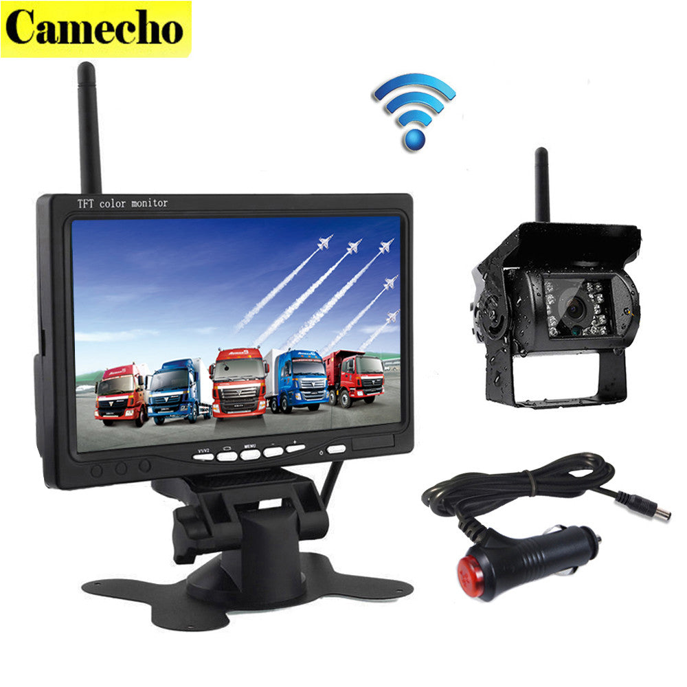 2017 New Wireless 7 Inch HD TFT LCD Vehicle Rear View Monitor Backup
