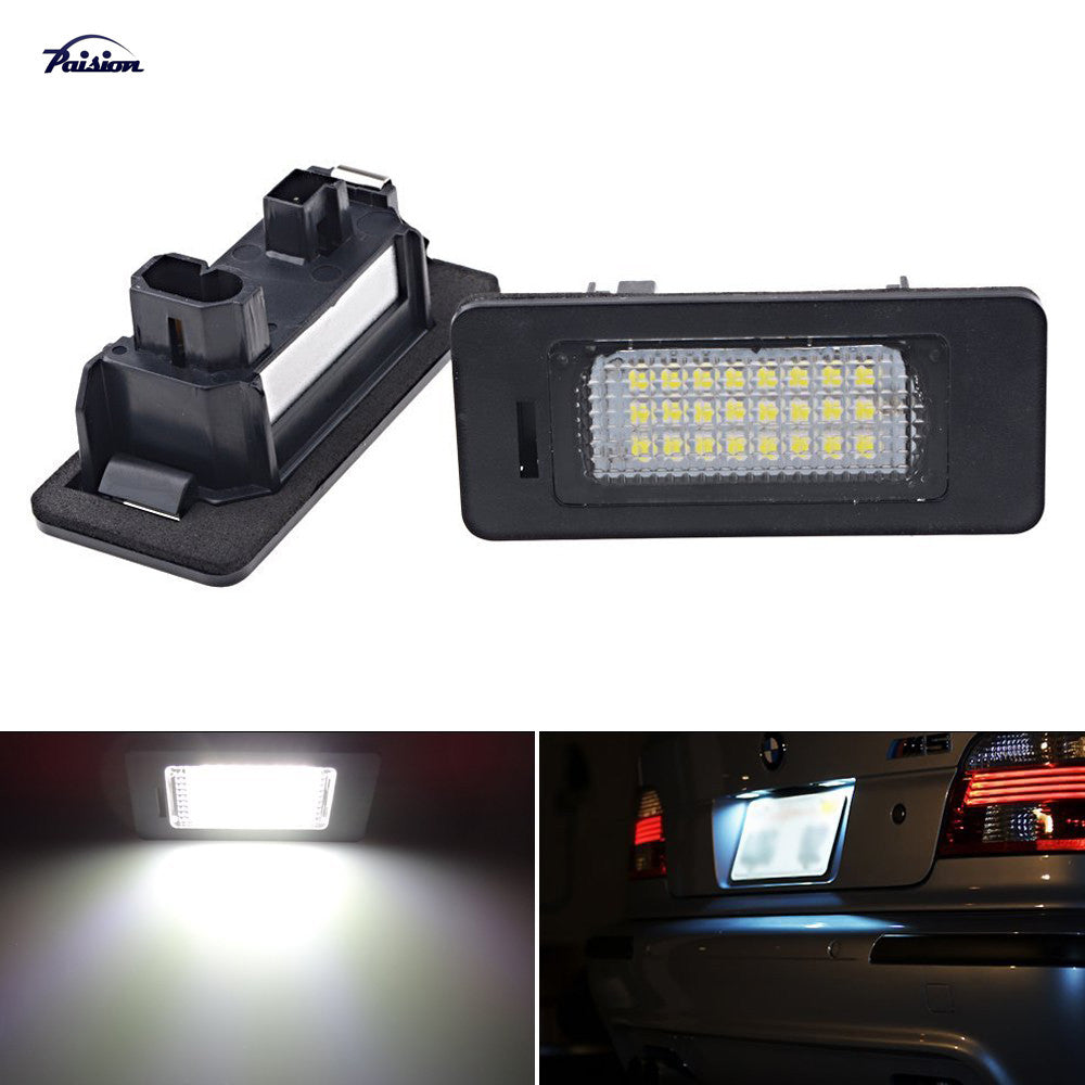2Pcs Error Free LED License Plate Light for BMW E39 E60 E61 E70 E82