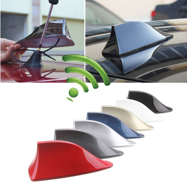 Car Truck Van Roof Shark Fin Antenna Radio Signal Aerial Universal For