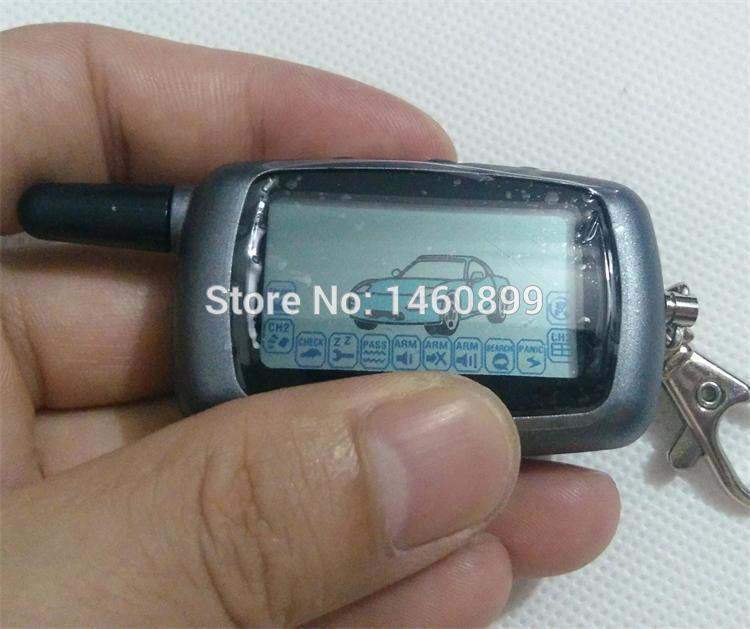 2-way LCD Remote Controller Key Fob with LOGO,  for Russian Version