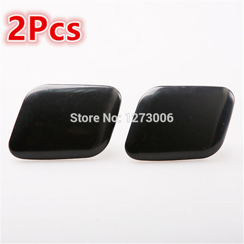 2Pcs Left and Right Car Headlight Washer Cover Caps Avant For Automobile Car-styling Cover Caps Accessories Black ABS Hot Sale