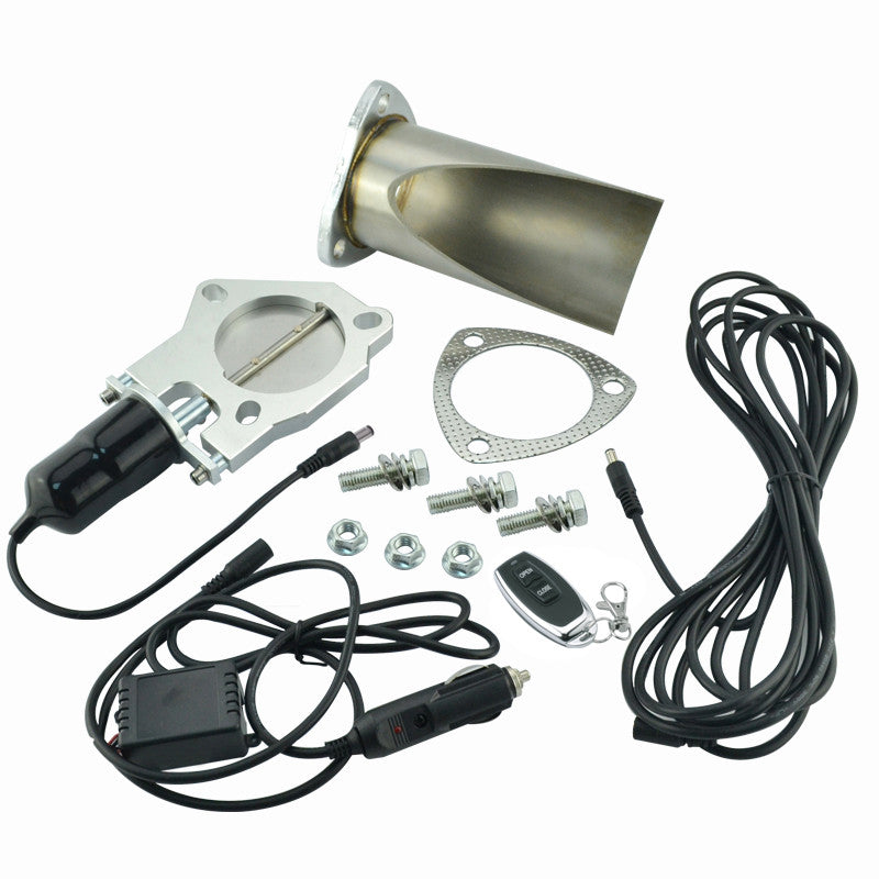 3 Inch Electric Stainless Exhaust Cutout  With Remote Control With