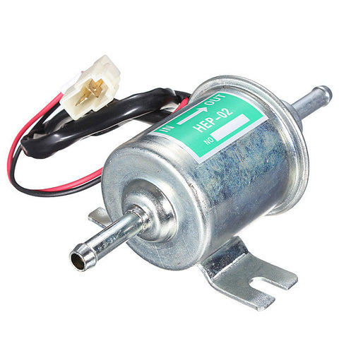 Universal Diesel Petrol Gasoline 12v Eelectric Fuel Pump HEP-02A 8mm Pipe Low Pressure Fuel Bomb Carburetor Motorcycle ATV Boat