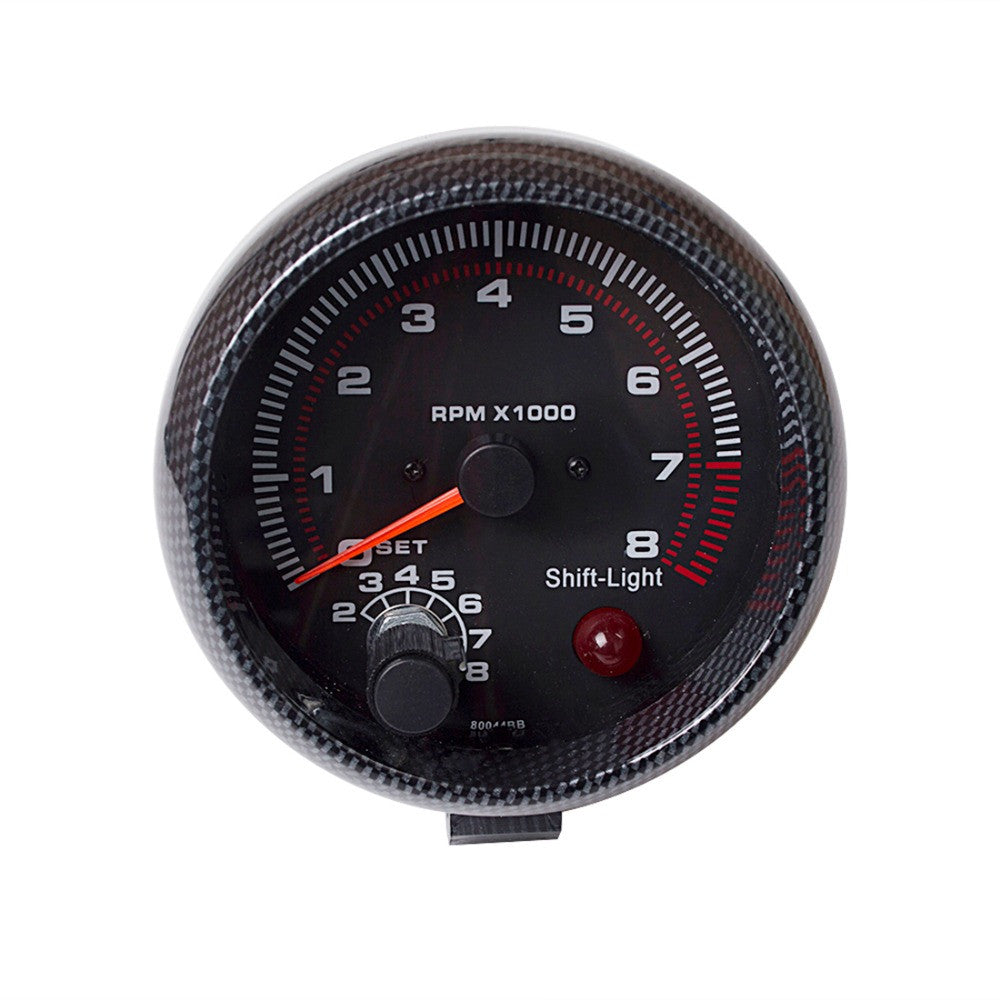 "3.75 Inch 95mm Tachometer for Single Color LED Auto Meter 3 3/4"" 12V"