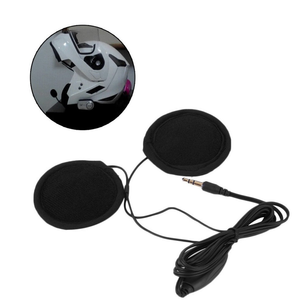 3.5mm Motorbike Motorcycle Helmet Stereo Speakers Headphones Volume