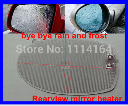 2 pcs/ lot 14.5*8cm Car rearview mirror heater electric heated side