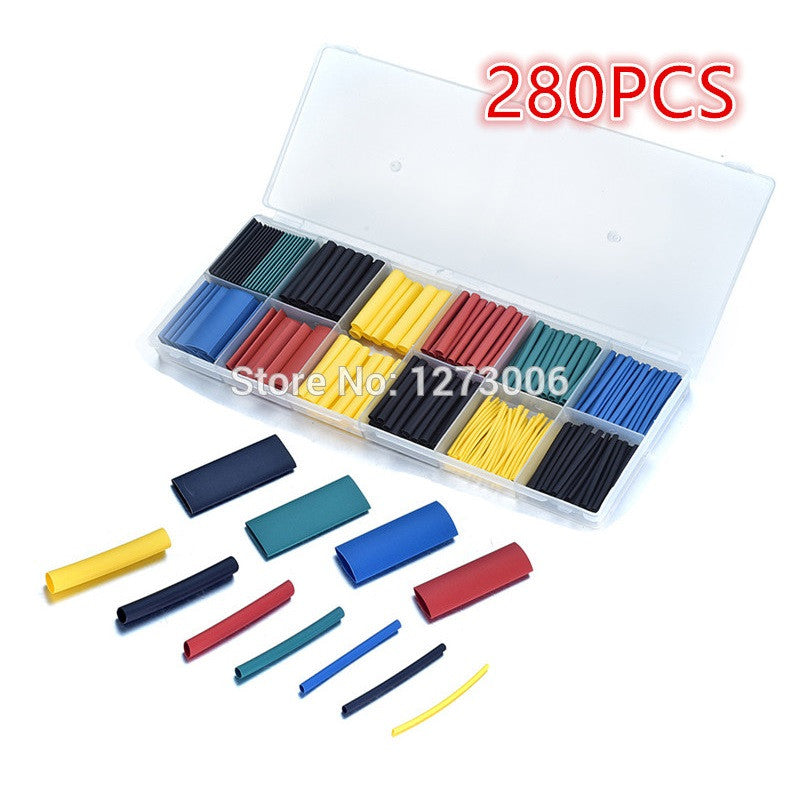 280Pcs PE Assorted Heat Shrink Tubing Car Electrical Insulation