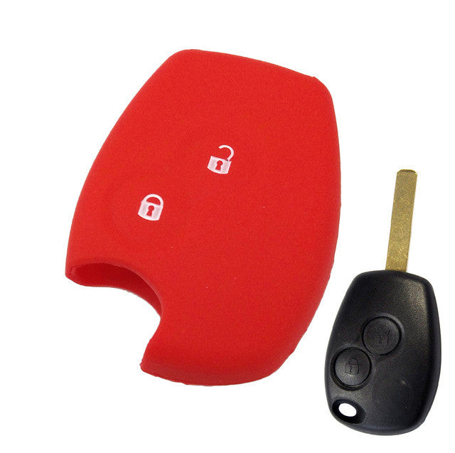 2 BUTTON SILICONE KEY COVER FIT FOR RENAULT CLIO DUSTER TWINGO