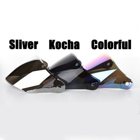 Motorcycle Bicycle Half Helmet VISOR FOR JIEKAI 515 512 516  ,SLIVER KOCHA MULTICOLOR CHOOSE