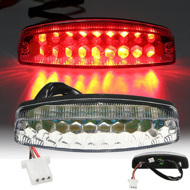 Red Motorcycle LED Rear Tail Brake Light For 50 70 110 125cc ATV