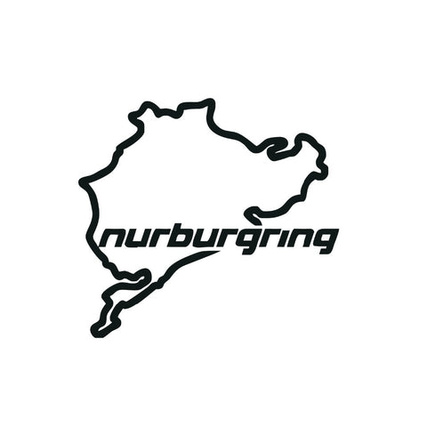 Nurburgring The Racing Track NEVERBEEN Car Sticker 14*12.5CM Car Accessories Window Decors Motorcycle Stickers Car Styling