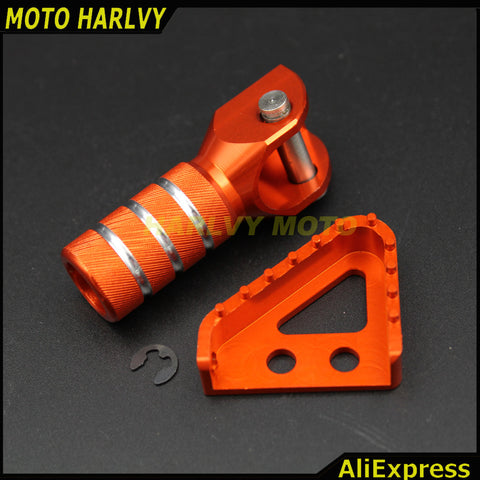 One Set Gear Shifter Lever Tip & Billet Rear Brake Pedal Step Tips For KTM SX XCW SXF EXCF SMR LC4 MX ENDURO 125-530 690 950 990