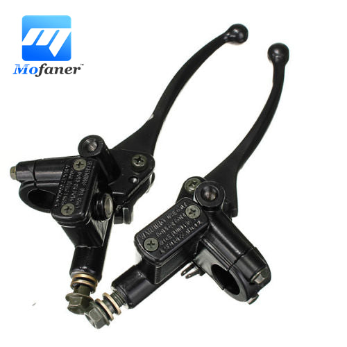 2 Pcs Dirt Pit Bike ATV Quad Hydraulic Brake Master Cylinder Clutch