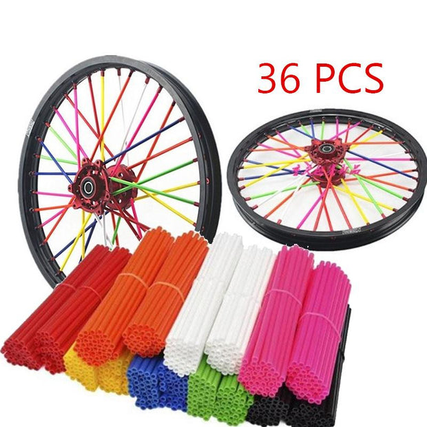 Universal Motorcycle Wheel spoke skins Dirt Bike Enduro Off Road Rim