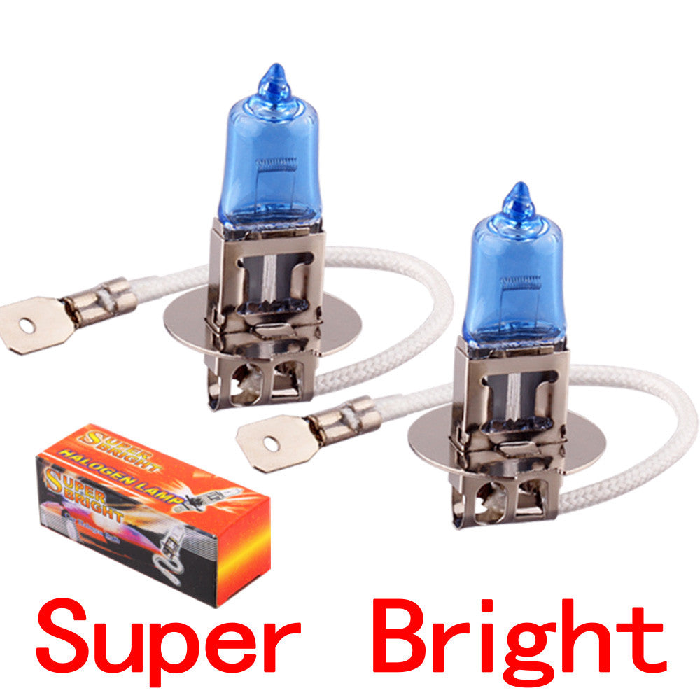 2pcs H3 Super Bright White Fog Halogen Bulb 100W Car Head Lamp Light