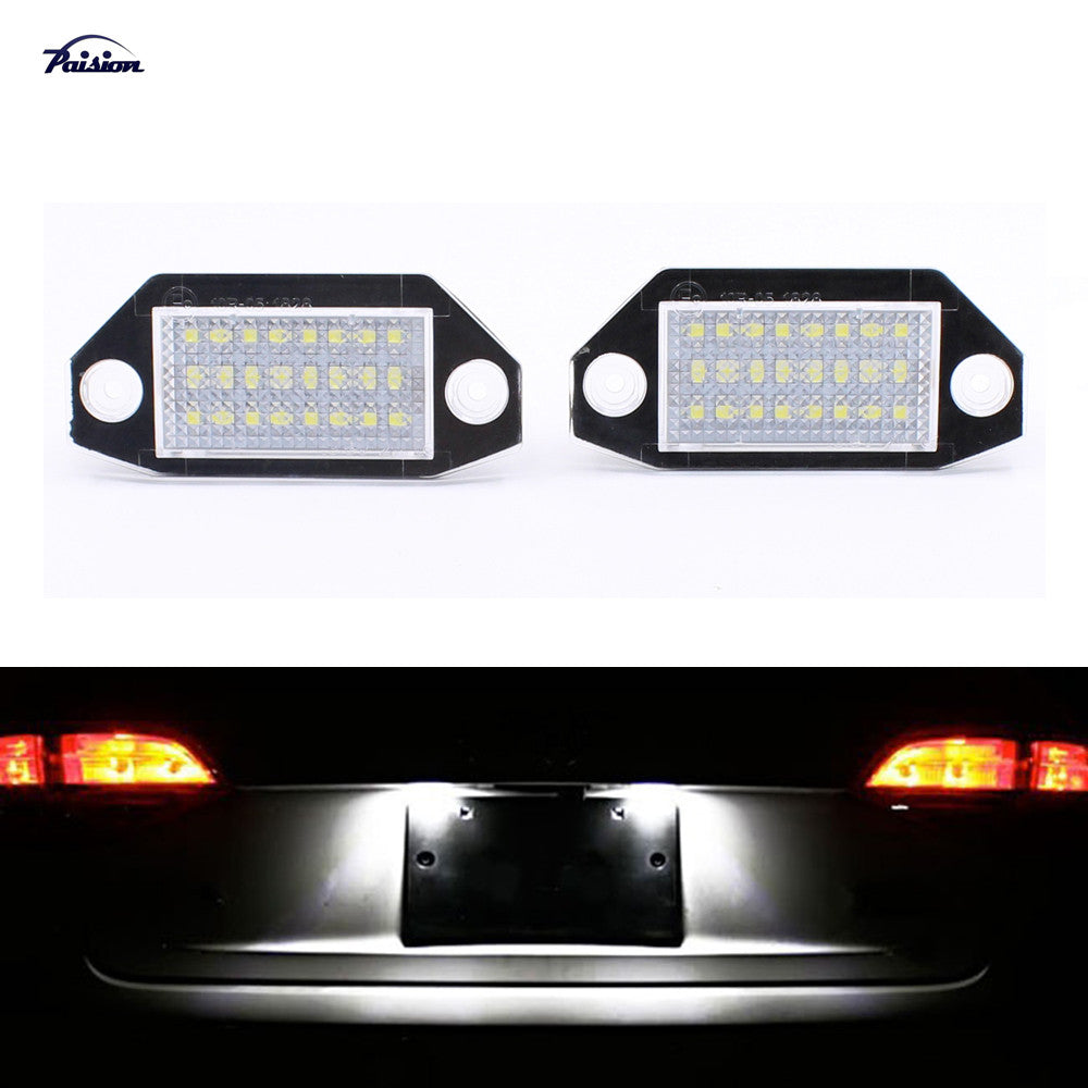 2Pcs 24SMD No Error LED Number License Plate Light Lamp For Ford