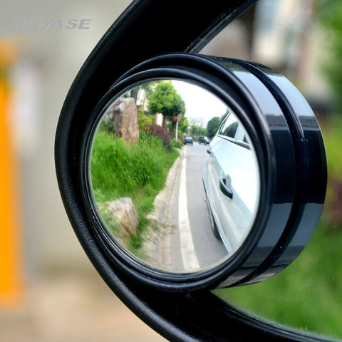 2pcs/lot 3R-035 Auto Rearview Mirror Small Round Mirror Blind Spot Mirror Wide-angle Lens 360 Degrees Adjustable Rearview