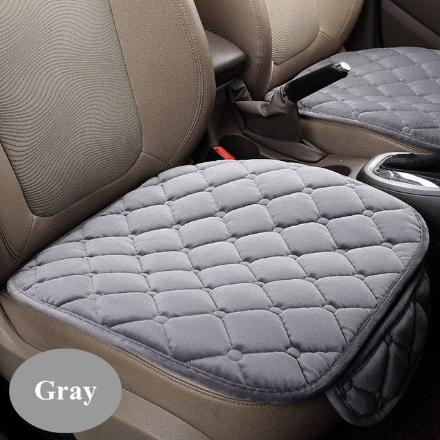 1PCS Universal Plush Car Seat covers Thickening Velvet Single Seat