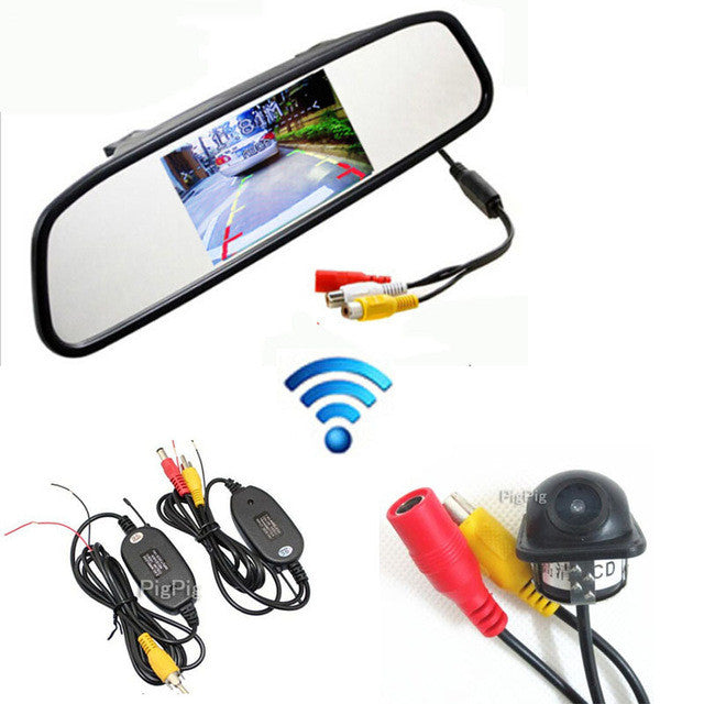 "2.4G Wireless 4.3"" Colorful Tft Auto Mirror Monitor 12v Screen For DVD"